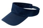 Upscale 100% Cotton Fashion Visor Hat Cap - Navy Blue