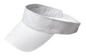 Upscale 100% Cotton Fashion Visor Hat Cap - White