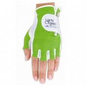 Lady Classic Cabretta 1/2 Finger Golf Glove Green Medium RH