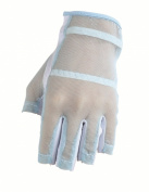 HJ Glove Women's Blue Solaire Half Length Golf Glove, Small, Left Hand