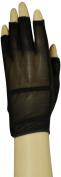 HJ Glove Women's Black Solaire Half Length Golf Glove, Medium, Left Hand