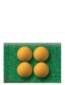 High Density Polyurethane Practise Golf Ball 4ct Useful
