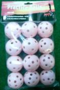 Pink Plastic Wiffle Type Practise Golf Balls Dozen