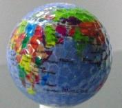 Photoball Golf World Globe Golf Ball