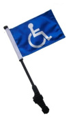 Handicap Small 6x9 Golf Cart Flag with EZ On and Off Bracket