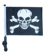 Pirate / Jolly Roger Golf Cart Flag with Ez On and Off Bracket