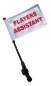 PLAYERS ASSISTANT Small 6x9 Golf Cart Flag with EZ On and Off Bracket