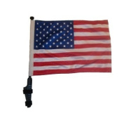 USA Golf Cart Flag with Ez On and Off Bracket