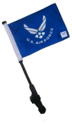 Licenced US Air Force Small 6x9 Golf Cart Flag with Ez on and Off Bracket