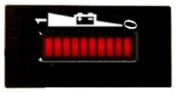 36 Volt Battery Gauge, Status Indicator - Golf Cart- BDI Rect
