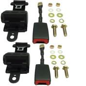 (2)Universal Retractable Seat/Lap Belt Kit for Club Car, Yamaha, EZGO Golf Cart