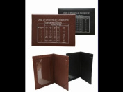 Brown Leather Golf Scorecard Holder w/ Logo