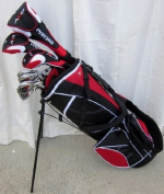 """NEW Mens Complete Golf Set Custom Made Clubs for Tall Men 6'0""""- 15.2cm 6 Tall Right Handed Driver, Fairway Wood, Hybrids, Irons, Putter, Stand Bag"""