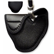 Genuine Leather Mallet Putter Cover for Heel Shafted Putters (Left Handed, Black) by JP Lann