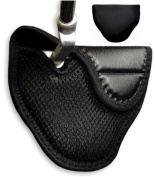 Genuine Leather Mallet Putter Cover for Heel Shafted Putters (Right Handed, Black) by JP Lann