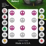 Golf Dotz Peace Tatoo Mark Your Golf Ball Unique