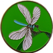 Dragonfly Flower and Garden Golf Ball Marker with Matching Plant Hat Clip