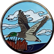 Male Mallard in Flight Golf Ball Marker and Matching Hat Clip
