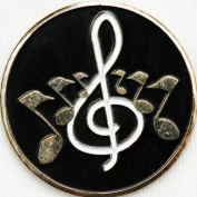 Musical Notes Golf Ball Marker and Matching Hat Clip