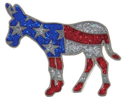 Navika Democratic Donkey Glitzy Ball Marker with Hat Clip