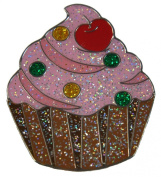 Navika Cupcake Glitzy Ball Marker with Hat Clip