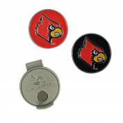 NCAA Louisville Hat Clip and 2 Golf Ball Markers
