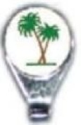 Palm Trees Hat Clip & Ball Marker Great Gift!