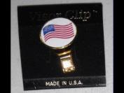 Waving American Flag Hat Clip & Ball Marker NEW!