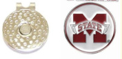 Missisippi State Double Sided Golf Ball Marker w/ Hat Clip