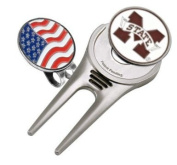 Missisippi State Double Sided Golf Ball Marker w/ Divot Tool