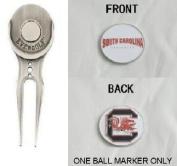 South Carolina Double Sided Golf Ball Marker w/ Divot Tool