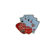 Navika Ball Marker and Hat Clip - Casino Cards and Dice