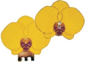 Yellow Orchid Ball Marker w/ Matching Clip