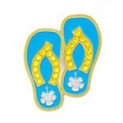 Bonjoc Blue Flip Flops Ladies Golf Ball Marker