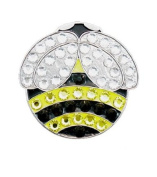 Bella Crystal Bumble Bee Hat Clip Set