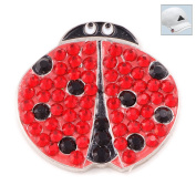 Bonjoc. Crystal Golf Ball Marker & Hat Clip - Ladybug
