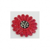 Navika. Crystal Ball Marker/hat Clip - Sunflower Red