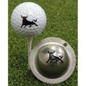 Tin Cup Raging Bull Golf Ball Marking Stencil, Steel