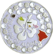 Bella Islands of Aloha colour USA Crystal Hat Clip Set