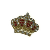 Navika. Crystal Ball Marker/hat Clip - Crown - RED