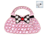 Bonjoc. Crystal Golf Ball Marker & Hat Clip - Pink Clutch Purse