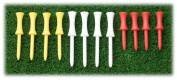 Golf Tees 12 Pack Plastic 3 Height Tees