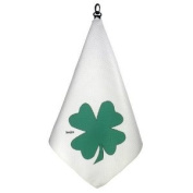 """""""GET LUCKY"""" Print Microfiber Tri-Fold Golf Towel Featuring Waffle Texture by BeeJo's"""