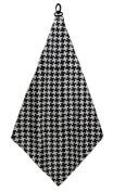 Black & White Houndstooth Golf Microfiber Towel by BeeJo