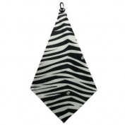 Women's Zebra Print Microfiber Golf Towel By BeeJo