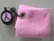 Towel mate Retractable Pink Putter Towel w/ Glitzty Magnetic Bal