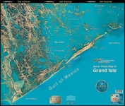 Standard Laminated Fast Fold Grand Isle/Fourchon To 4 Bayou Md#