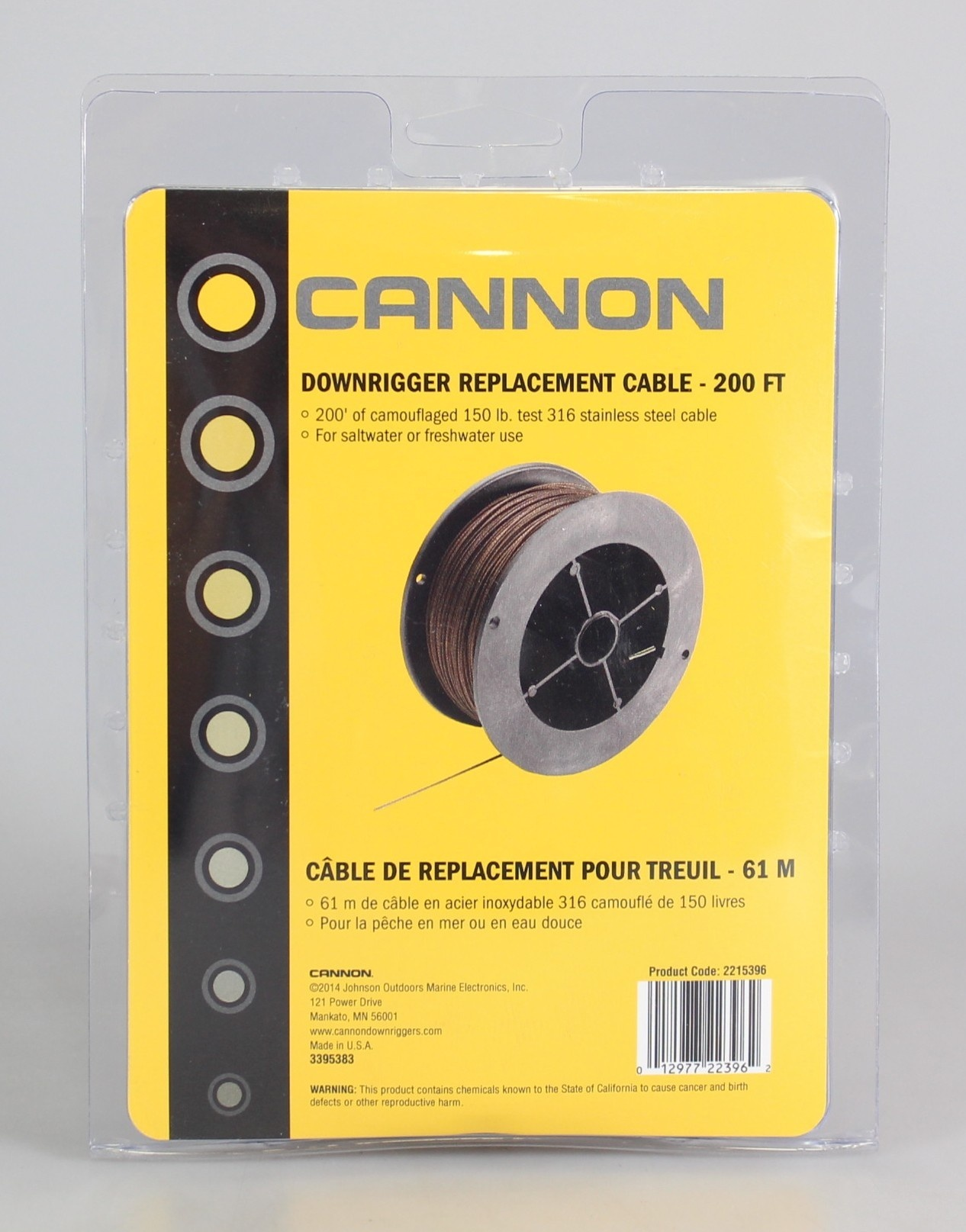Cannon 60m Downrigger Cable