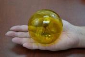 Reproduction Yellow Glass Float Fishing Ball 7.6cm