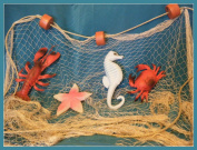 6.1m x 2.4m TAN Fish NET with Floats, Lobster, Crab, Starfish and Seahorse